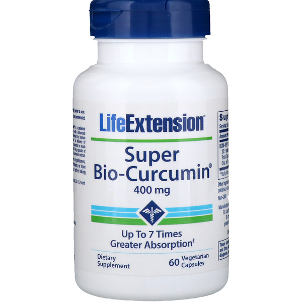 Life Extension, Super Bio-Curcumin, 400 mg, 60 Vegetarian Capsules (Discontinued Item)