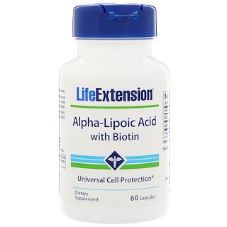 Life Extension, Alpha-Lipoic Acid, With Biotin, 60 Capsules