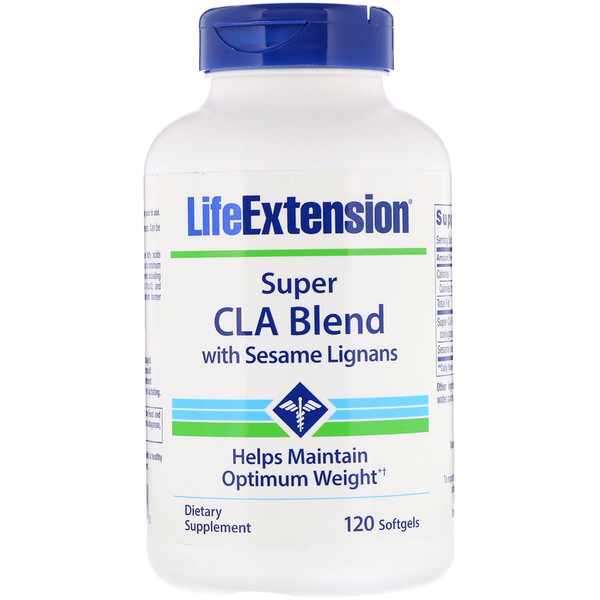 Life Extension, Super CLA Blend含有芝麻木脂素,1000 毫克, 120粒