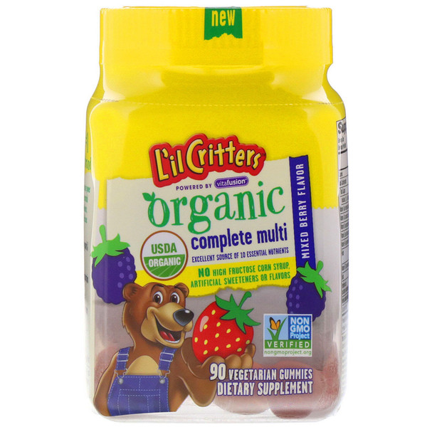 L'il Critters, Organic Complete Multi, Mixed Berry Flavor, 90 Vegetarian Gummies