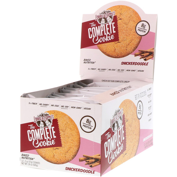 The COMPLETE Cookie, Snickerdoodle, 12 Cookies, 2 oz (57 g) Each