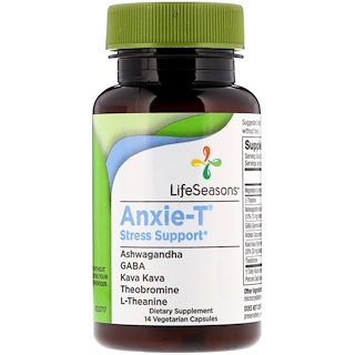 LifeSeasons, Anxie-T Stress Support, 14 Vegetarian Capsules