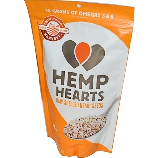 Manitoba Harvest, Hemp Hearts 有机带壳麻籽,8 oz(227 g)