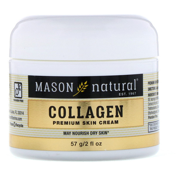 Mason Natural, Collagen Premium Skin Cream, Pear Scented, 2 fl oz (57 g)