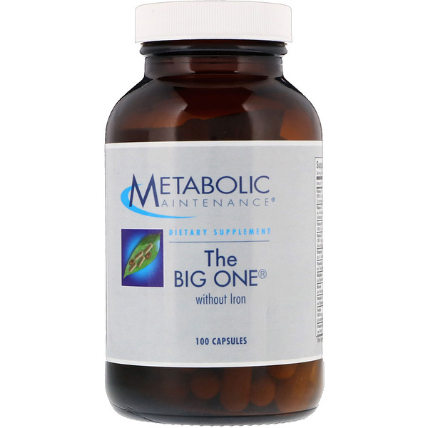 Metabolic Maintenance, The Big One不含铁,100粒胶囊