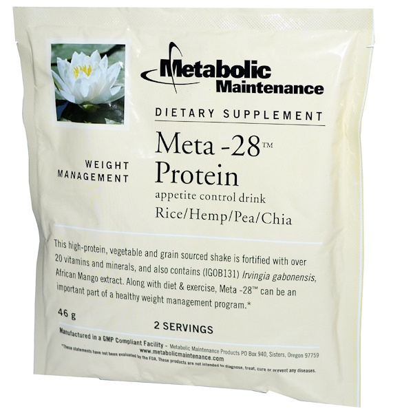 Metabolic Maintenance, Meta-28 Protein, Appetite Control Drink, 46 g, 2 Servings (Discontinued Item)