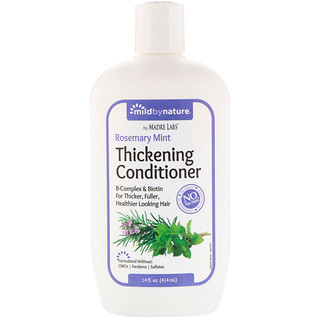 Mild By Nature, Thickening B-Complex + Biotin Conditioner by Madre Labs, No Sulfates, Rosemary Mint, 14 fl oz (414 ml)