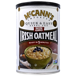 McCann's Irish Oatmeal, Quick&Easy刀切爱尔兰燕麦,24盎司(680克)