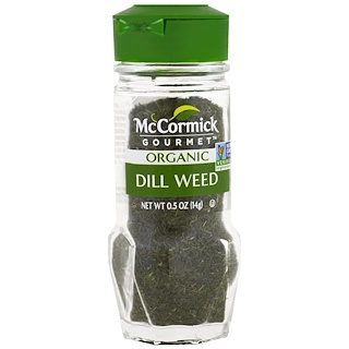 McCormick Gourmet, Organic, Dill Weed, 0.50 oz (14 g)