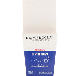 Dr. Mercola, Premium Dental Care, 牙线,100%素食打蜡,100码(91.44米)