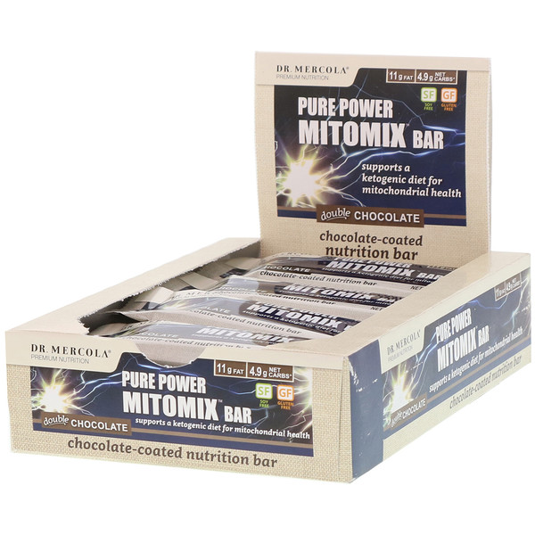 Dr. Mercola, Pure Power Mitomix 棒,双倍巧克力,12 条,每条 1.41 盎司(40 克) (Discontinued Item)