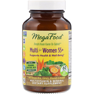 MegaFood, Multi for Women Over 55+, 60 Tablets