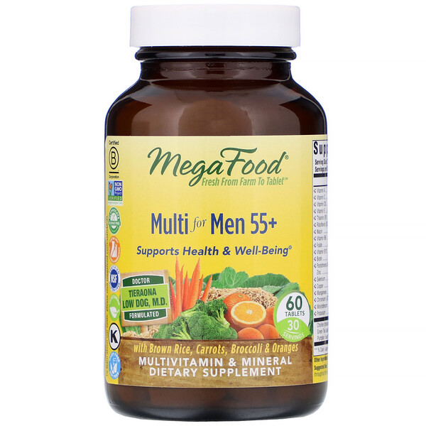 MegaFood, Multi for Men 55+,60片