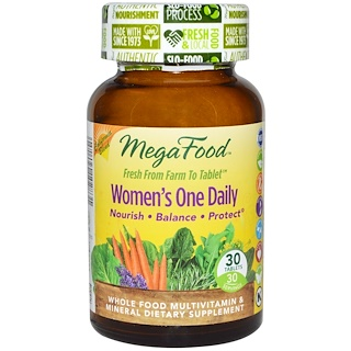 MegaFood, Women's One Daily,全食多种维生素和矿物质,30片