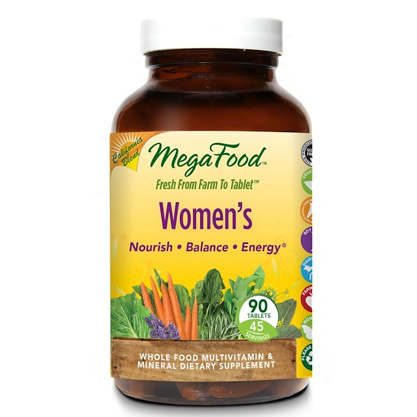 MegaFood, Women's, Whole Food Multivitamin & Mineral, 90 Tablets (Discontinued Item)