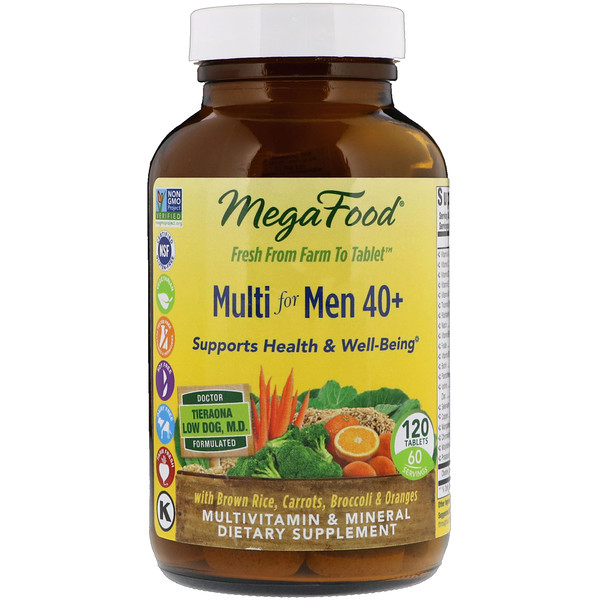 MegaFood, Multi for Men 40+, 120 Tablets