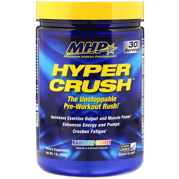 MHP, Hyper Crush,彩虹糖口味,1磅(450克)