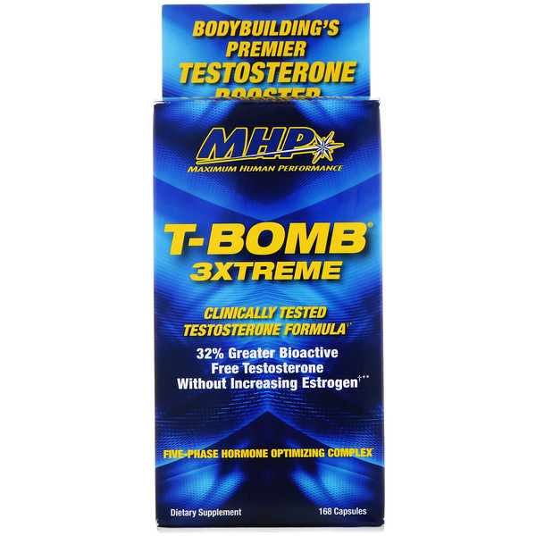 Maximum Human Performance, LLC, T-Bomb 3Xtreme, 168 Tablets