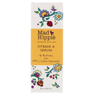 Mad Hippie Skin Care Products, 维生素 A 精华素,1.02 液体盎司(30 毫升)