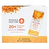 Manuka Doctor, Fusion 20+ Manuka Honey, Flavored with Turmeric, 24 Sachets, .25 oz (7 g) Each