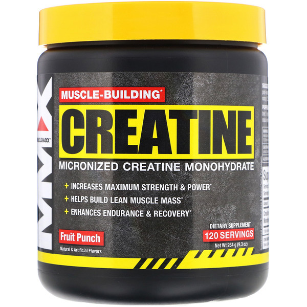 MuscleMaxx, Muscle Building Creatine, Fruit Punch, 9.3 oz (264 g)