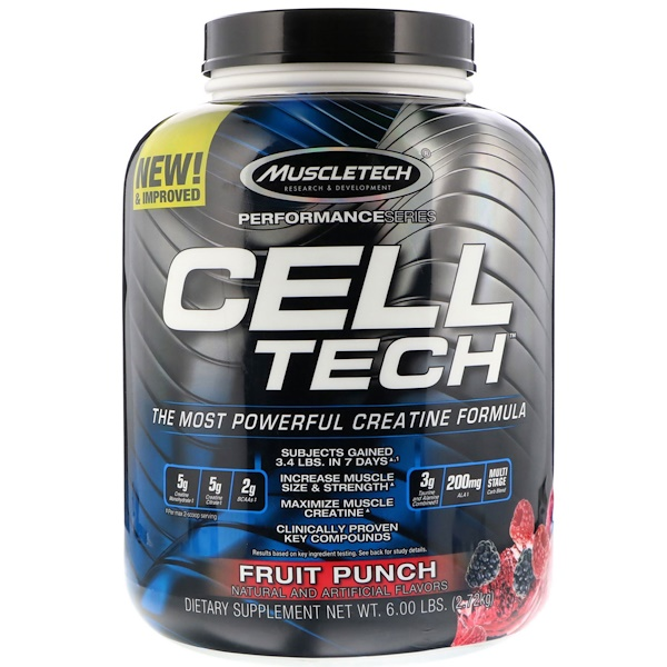 Cell Tech, The Most Powerful Creatine Formula, Fruit Punch, 6.00 lb (2.72 kg)