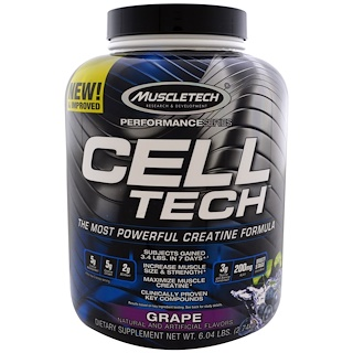Muscletech, Cell Tech,葡萄味,6.04磅(2.74千克)