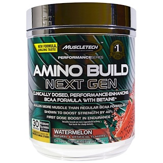 Muscletech, Amino Build Next Gen BCAA Formula With Betaine, Watermelon, 9.74 oz (276 g)