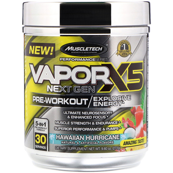 Vapor X5, Next Gen, Pre-Workout, Hawaiian Hurricane, 9.60 oz (272 g)