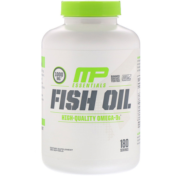 MusclePharm, 精华,鱼油,180 粒软胶囊 (Discontinued Item)