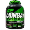 MusclePharm, Combat,全酪蛋白,巧克力牛奶味,64盎司(1814克)