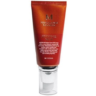 Missha, M Perfect Cover BB霜,第21号浅米色,50 ml