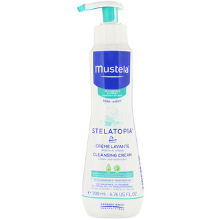 Mustela, Baby, Stelatopia Cleansing Cream, 6.76 fl oz (200 ml)