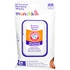 "Munchkin, Arm & Hammer, All-Purpose Nursery Surface Wipes, 24 Wipes, 8"" x 6"" Each (Discontinued Item)"