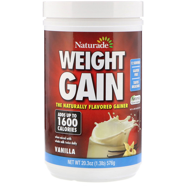 Naturade, Weight Gain, Vanilla, 20.3 oz (576 g)