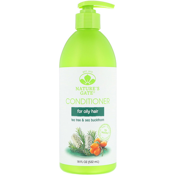 Nature's Gate, Tea Tree + Sea Buckthorn Conditioner, For Oily Hair, 18 fl oz (532 ml) (Discontinued Item)