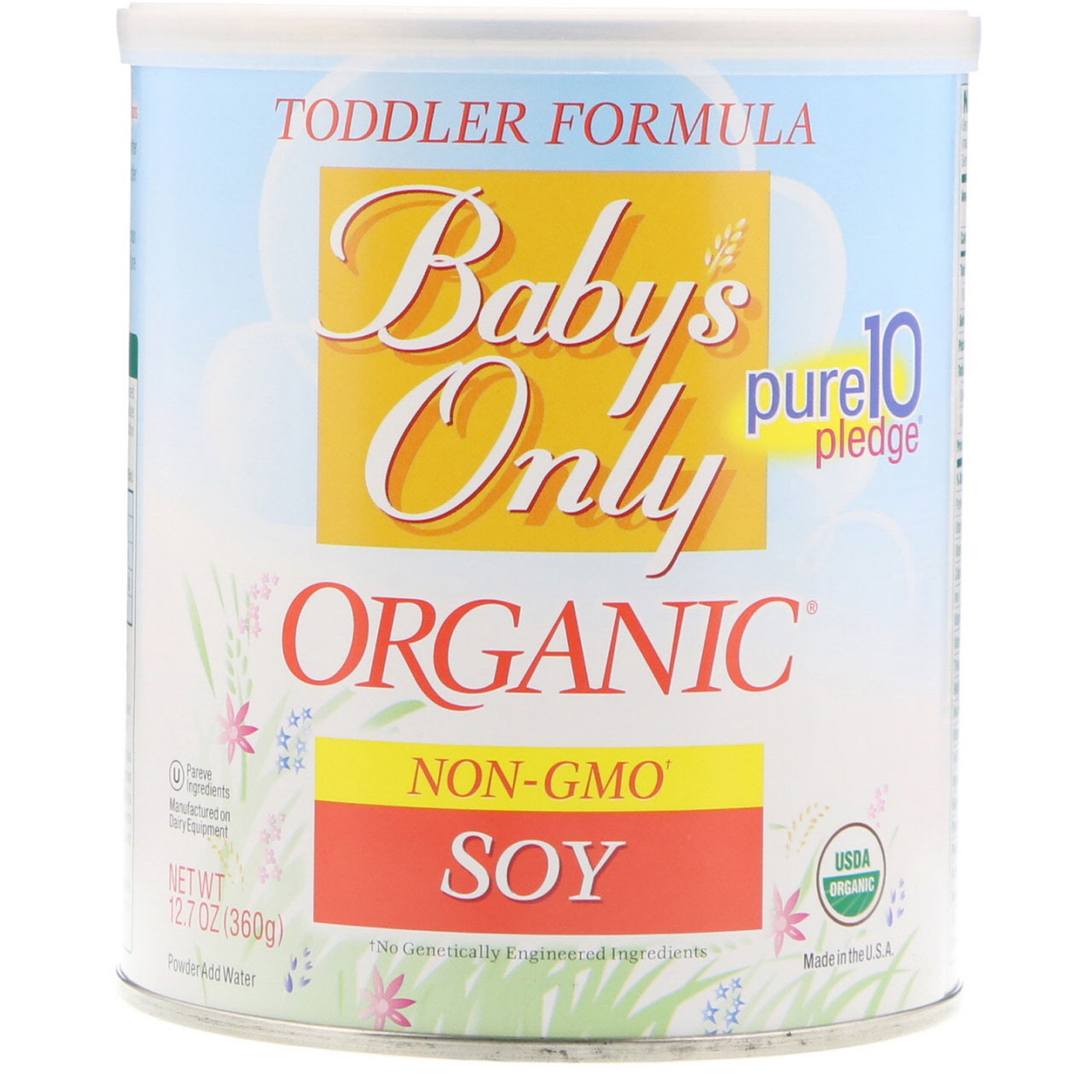 Nature S One Baby S Only Organic,幼儿配方奶粉,大豆,12 7盎司(360克