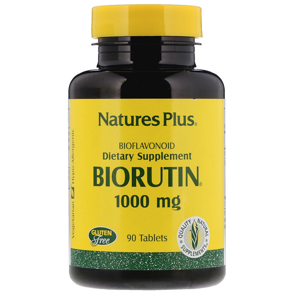 Nature's Plus, Biorutin补充片,1000毫克,90片