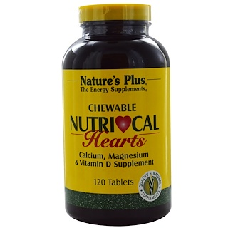 Nature's Plus, Nutri-Cal Hearts, 可咀嚼, 120 片