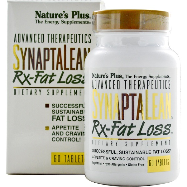Nature's Plus, Advanced Therapeutics, SynaptaLean, Rx-Fat Loss, 60 Tablets (Discontinued Item)