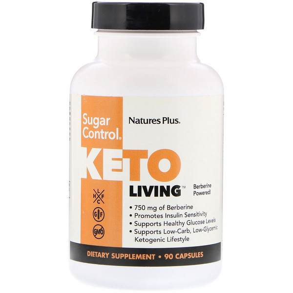 Nature's Plus, KetoLiving,控糖,90粒胶囊