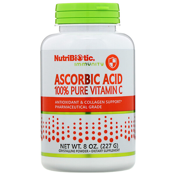 Immunity, Ascorbic Acid, 全 Pure Vitamin C, Crystalline Powder, 8 oz (227 g)