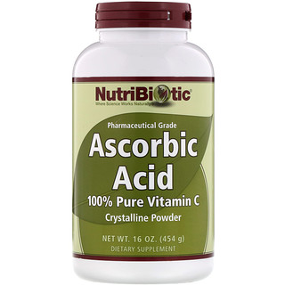 NutriBiotic, Ascorbic Acid, 100% Pure Vitamin C, Crystalline Powder, 16 oz (454 g)