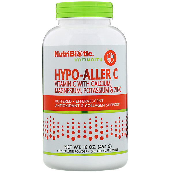 NutriBiotic, Immunity, Hypo-Aller C Vitamin C with Calcium, Magnesium, Potassium & Zinc, 16 oz (454 g)