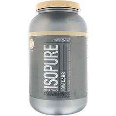 Nature's Best, IsoPure, 低碳水蛋白质粉,烤椰香,3 磅(1.36 千克)