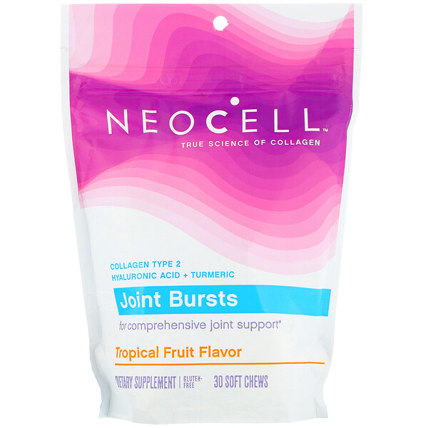 Neocell, Joint Bursts, Tropical Fruit , 30 Soft Chews
