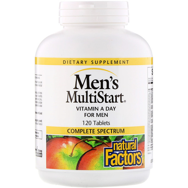 Men's MultiStart, Vitamin A Day for Men, 120 Tablets