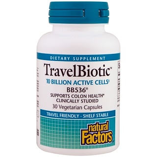 Natural Factors, Travel Biotic BB536,30粒素食胶囊