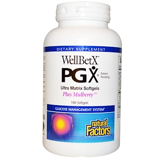 Natural Factors, WellBetX PGX,加上桑椹,180粒软胶囊