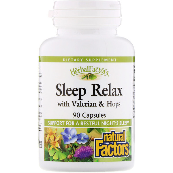 Sleep Relax with Valerian & Hops, 90 Capsules